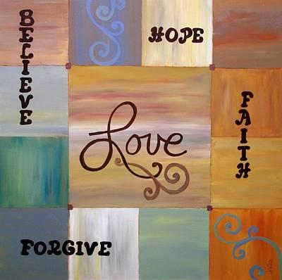 Center Love Poster