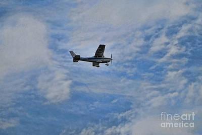 Cessna In Flight Poster by Paul Ward