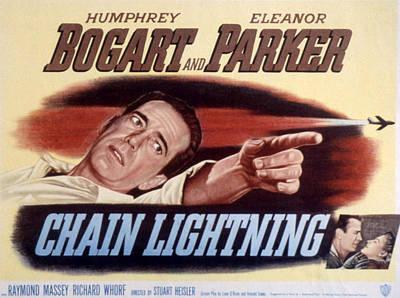 Chain Lightning, Humphrey Bogart, 1950 Poster