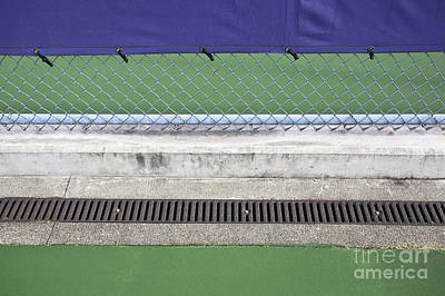 Chain Link Fence On Tennis Courts Poster