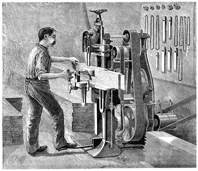 Chain Mortiser Saw, 19th Century Poster