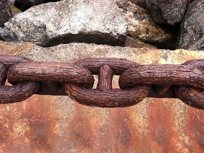 Chain Under The Golden Gate Bridge Poster by Bill Owen