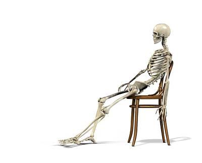 Chair Ergonomics, Incorrect Posture Poster by Claus Lunau