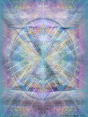 Chalice Of Vorticspheres Of Color Shining Forth Over Tapestry Poster