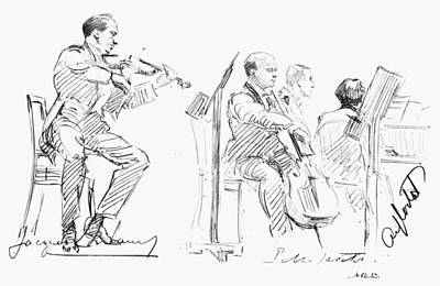 Chamber Musicians, C1935 Poster by Granger