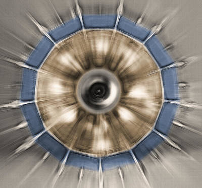 Chandelier Abstract - Underneath View Poster by Steve Ohlsen