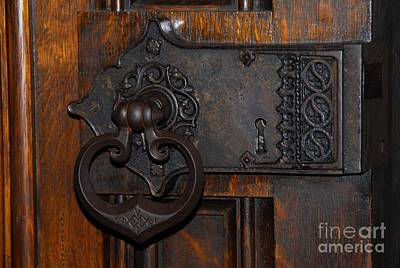 Poster featuring the photograph Chapel Door by Cindy Manero