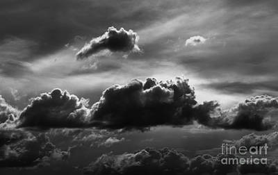 Charcoal Clouds Poster by Erica Hanel