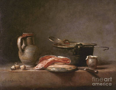 Chardin: Copper Pot Poster by Granger