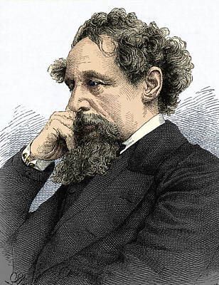 Charles Dickens, English Author Poster by Sheila Terry