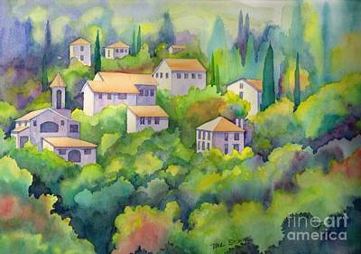 Charming Provence Poster by Val Stokes