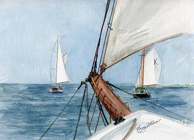 Poster featuring the painting Chasing The North Wind by Nancy Patterson