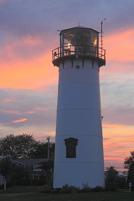 Chatham Lighthouse Tower Sunset Poster by John Burk