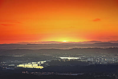 Chattanooga Sunrise Poster by Steven Llorca