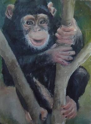 Cheeky Monkey Poster by Jessmyne Stephenson