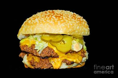 Poster featuring the photograph Cheeseburger by Cindy Manero