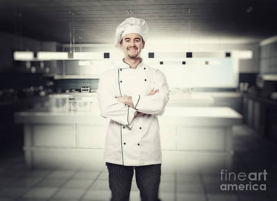 Chef Portrait Poster by Gualtiero Boffi