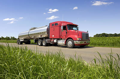 Chemical Tank Truck Poster by Lester Lefkowitz