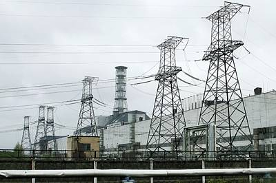 Chernobyl Nuclear Power Station Pylons Poster by Ria Novosti