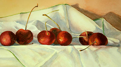 Poster featuring the painting Cherries Jubilee by Vikki Bouffard