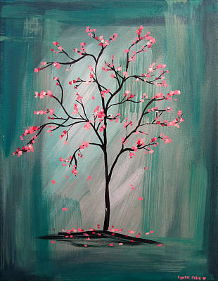 Cherry Blossom Poster by Lynsie Petig