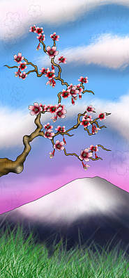 Cherry Blossoms Poster by Anthony Citro