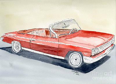 Chevrolet 62 Impala Poster by Eva Ason