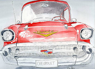 Poster featuring the painting Chevrolet by Eva Ason