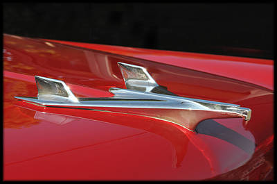 Chevy Bel Aire Hood Ornament Poster
