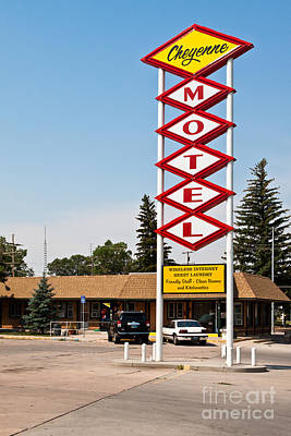 Cheyenne Motel Poster by Lawrence Burry