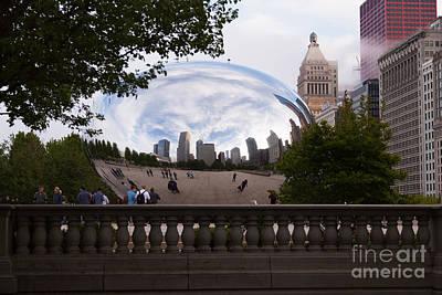 Chicago Cloud Gate Bean Sculpture Poster