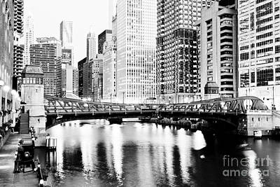 Chicago Downtown At Clark Street Bridge Poster by Paul Velgos