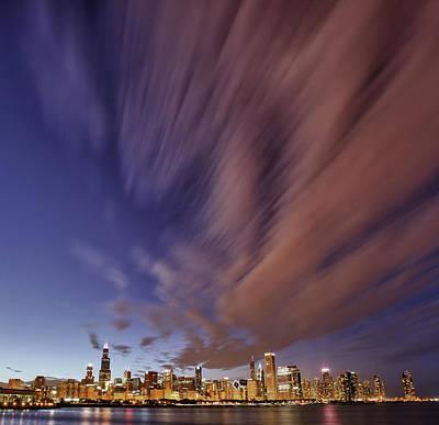 Chicago Evening 3 Poster by Donald Schwartz