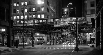 Chicago Night Train Poster