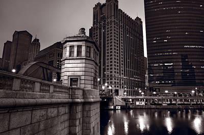 Chicago River Bridgehouse Poster by Steve Gadomski
