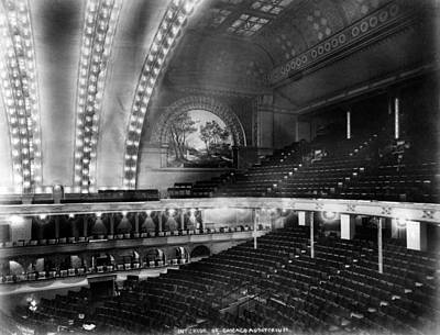 Chicago. The Chicago Auditorium Poster by Everett