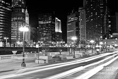 Chicago Wacker Drive At State Street Poster by Paul Velgos