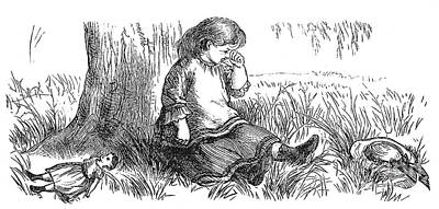 Child Crying, 1873 Poster by Granger