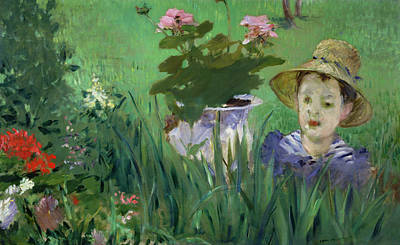 Child In The Flowers Poster by Edouard Manet
