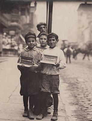 Child Labor, Vendors On The Bowery, New Poster