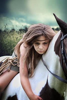 Child On Paint Pony Poster by Ethiriel  Photography