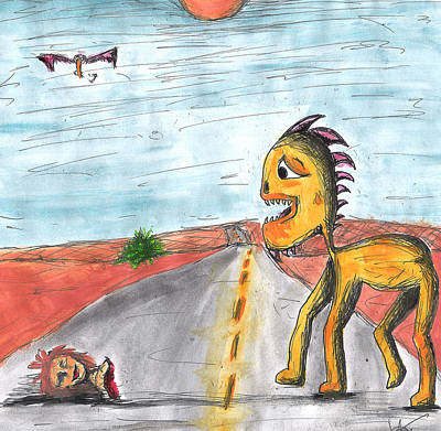 Childlike Innocence Color Poster by Jera Sky