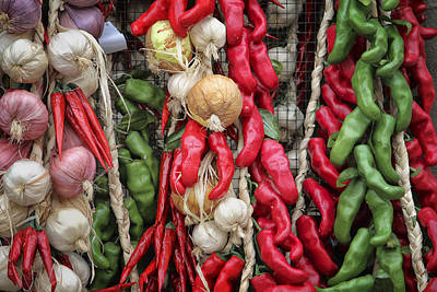 Chilis Poster by Joan Carroll