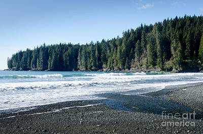 China Surf China Beach Juan De Fuca Provincial Park Bc Canada Poster by Andy Smy