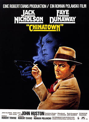 Chinatown, From Left, Faye Dunaway Poster by Everett