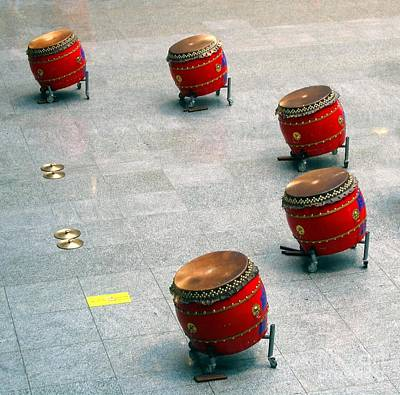 Chinese Drum Set Poster by Yali Shi