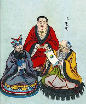Chinese Religious Leaders Poster by Sheila Terry