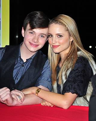 Chris Colfer, Dianna Agron At In-store Poster