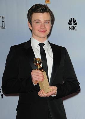 Chris Colfer In The Press Room For The Poster
