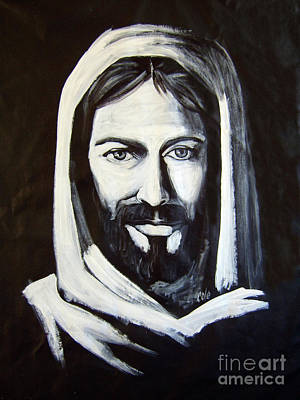 Christ Smiling Poster by Larry Cole